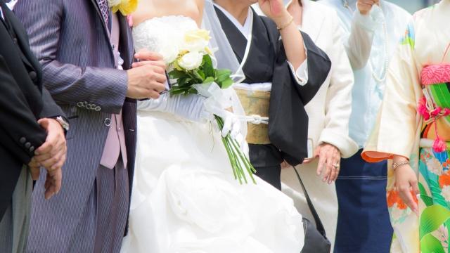 結婚式記念撮影