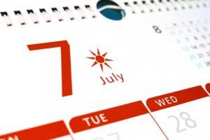 夏カレンダー土用丑の日