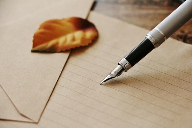万年筆とレターセット