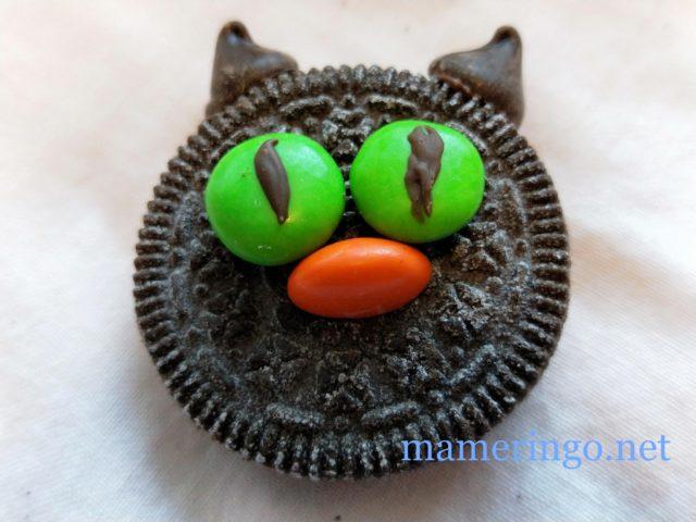 黒猫クッキー 顔