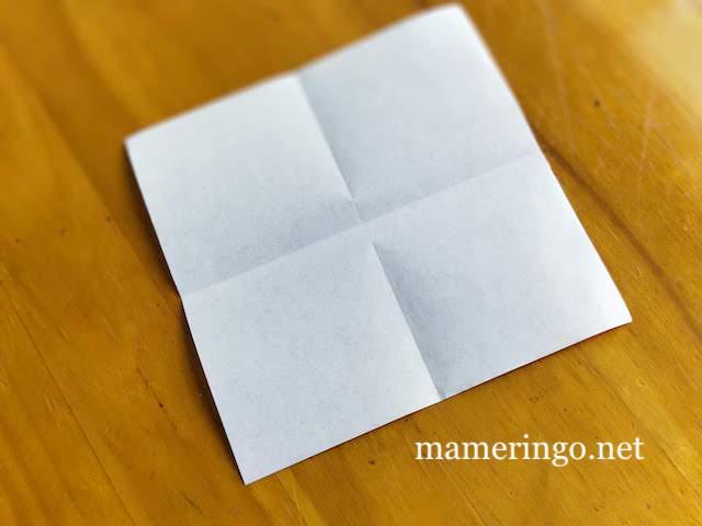 折り紙2枚 星1