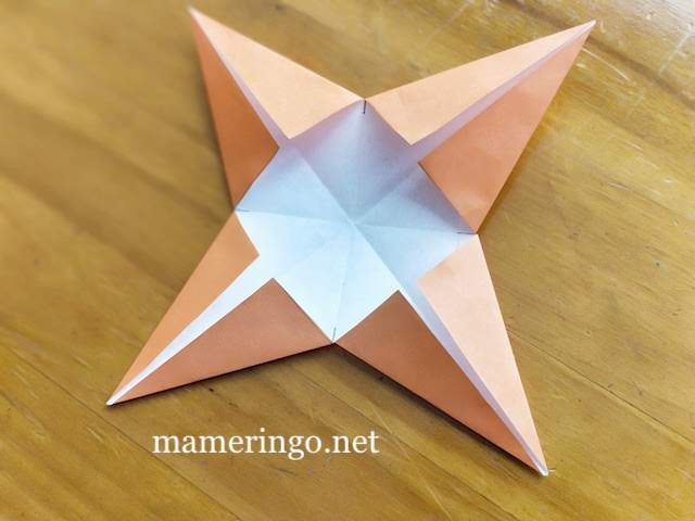 折り紙2枚 星5