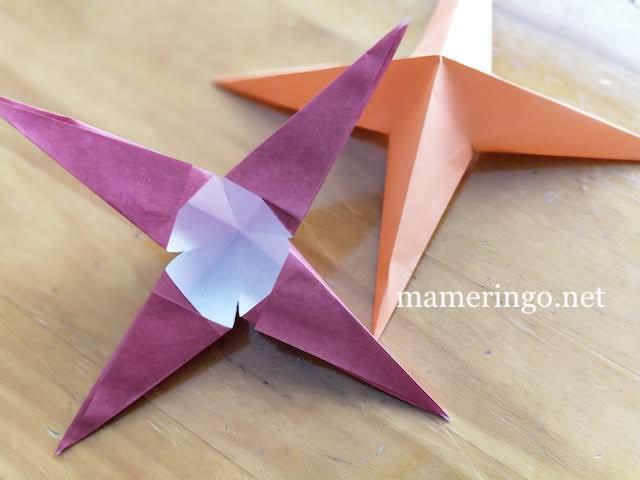 折り紙2枚 星10