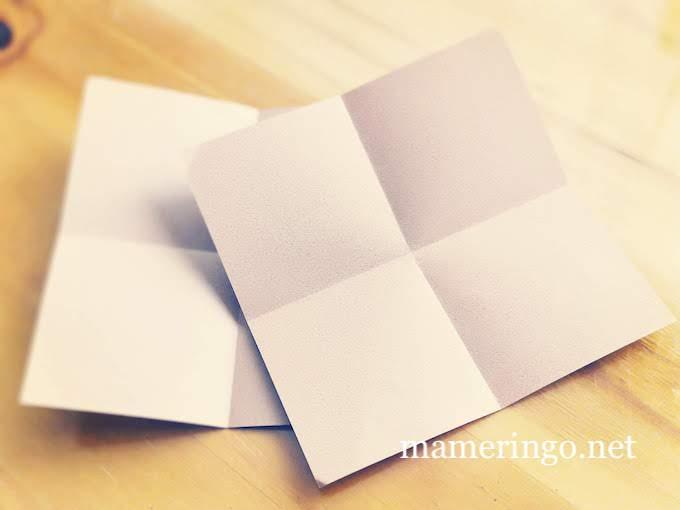 折り紙二枚