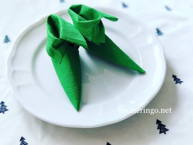 クリスマスナプキン小人ブーツ