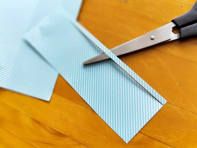 折り紙 短冊 折り方